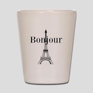 Bonjour Eiffel Tower Shot Glass