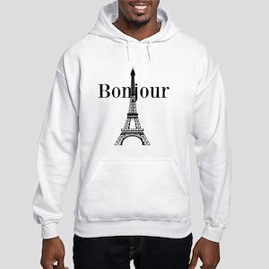 Bonjour Eiffel Tower Hoodie