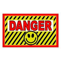 SFH Danger Rectangle Decal