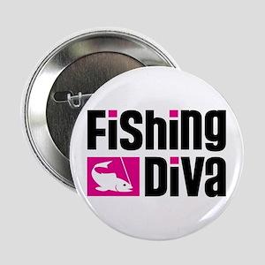 "Fishing Diva 2.25"" Button"