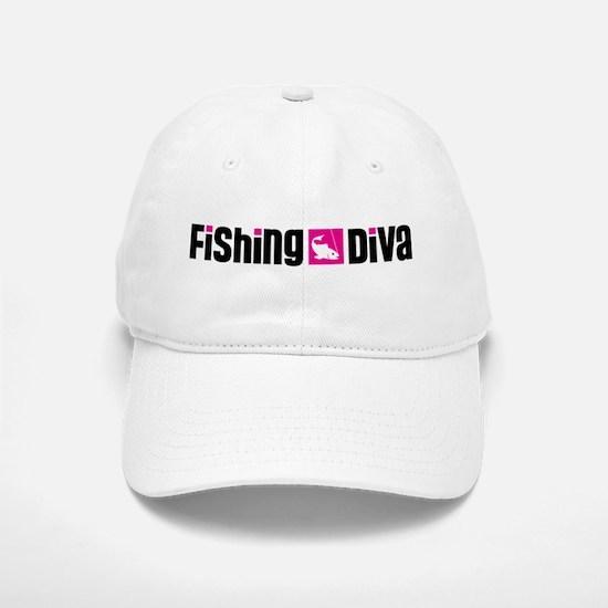 Fishing Diva Baseball Baseball Cap