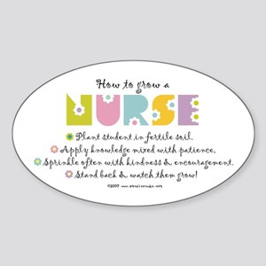 How to Grow a Nurse Oval Sticker