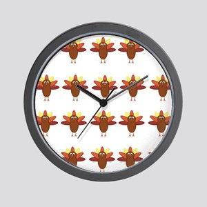 Cute Thanksgiving Turkeys Wall Clock