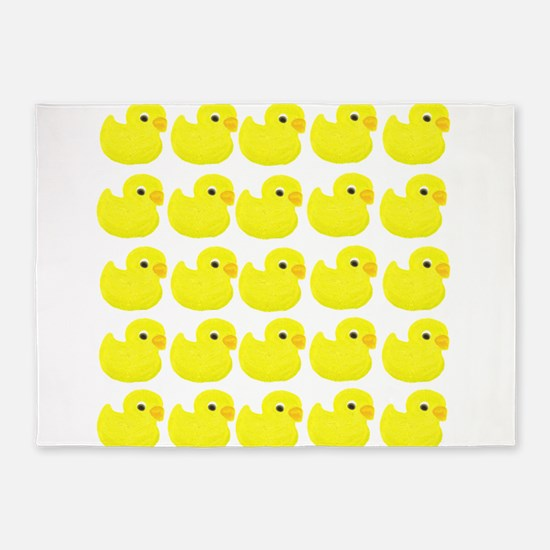Rubber Ducks 5'x7'Area Rug