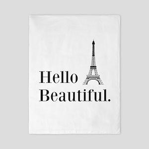 Hello Beautiful Eiffel Tower Twin Duvet