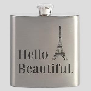 Hello Beautiful Eiffel Tower Flask