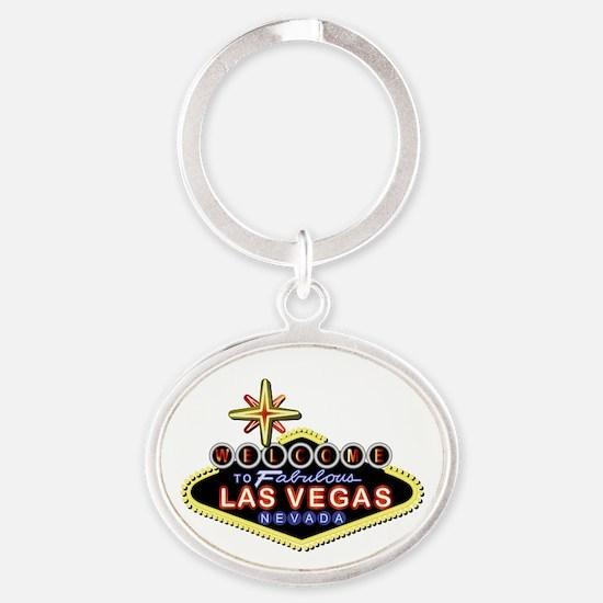 Fabulous Las Vegas Oval Keychain