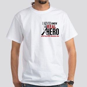 Carcinoid Cancer Real Hero 2 White T-Shirt