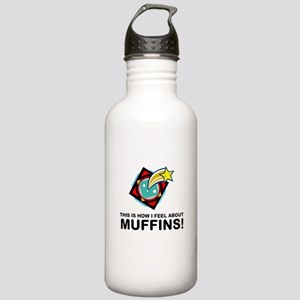 Muffin Eater Stainless Water Bottle 1.0L