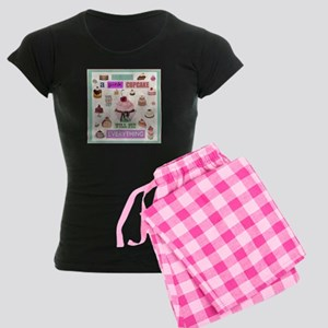 Pink Cupcake Women's Dark Pajamas