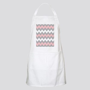 Pink And Gray Chevron Stripes Apron