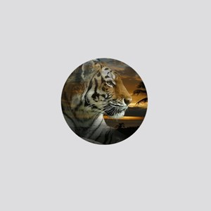 Tiger Sunset Mini Button