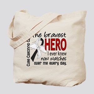 Carcinoid Cancer Bravest Hero Tote Bag