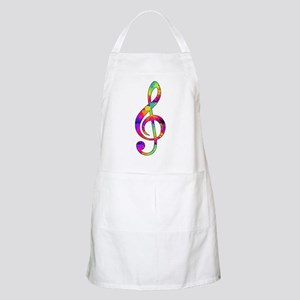 Treble Clef - paint splattered Apron