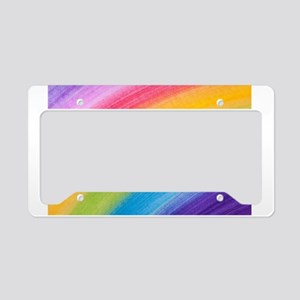 Acrylic Rainbow License Plate Holder