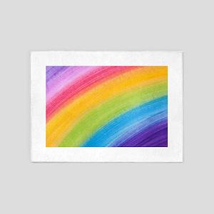 Acrylic Rainbow 5'x7'Area Rug