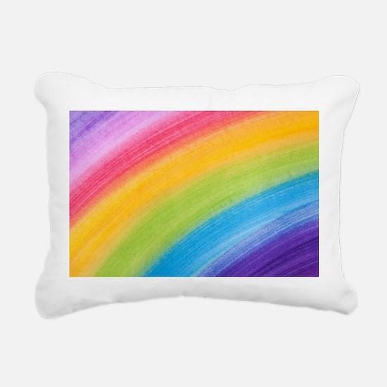 Acrylic Rainbow Rectangular Canvas Pillow