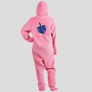 Hanukkah Dreidel Footed Pajamas