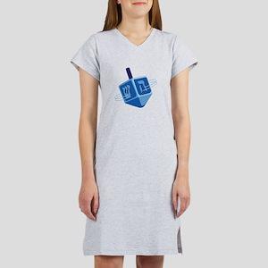 Hanukkah Dreidel Women's Nightshirt