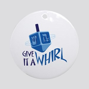 GIVE IT A WHIRL Ornament (Round)