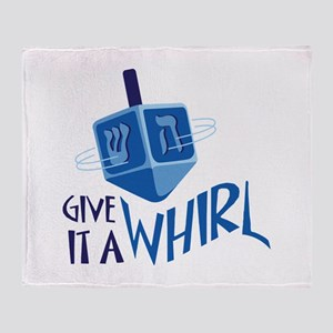 GIVE IT A WHIRL Throw Blanket