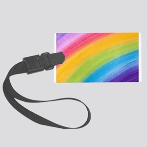 Acrylic Rainbow Luggage Tag