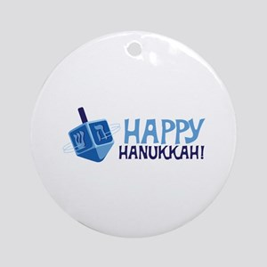 HAPPY HANUKKAH! Ornament (Round)
