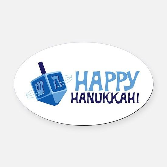 HAPPY HANUKKAH! Oval Car Magnet