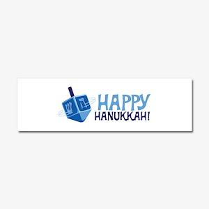 HAPPY HANUKKAH! Car Magnet 10 x 3