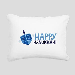 HAPPY HANUKKAH! Rectangular Canvas Pillow