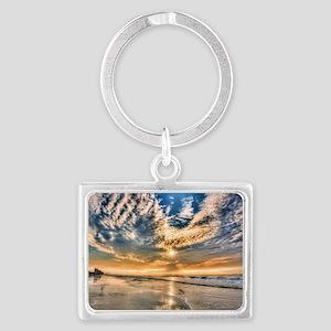 Folly Beach Landscape Keychain