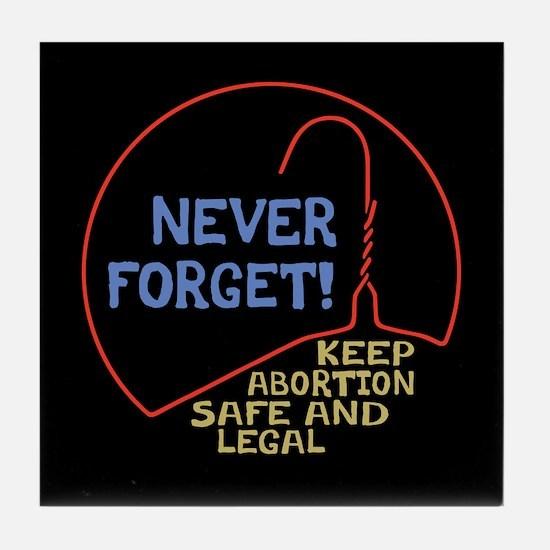 Safe & Legal Tile Coaster