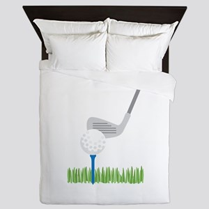 Golf Ball Iron Queen Duvet