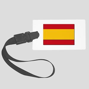 Spain Civil Flag Large Luggage Tag