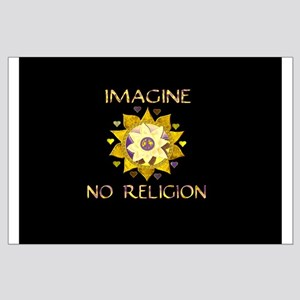 Imagine No Religion Large Poster