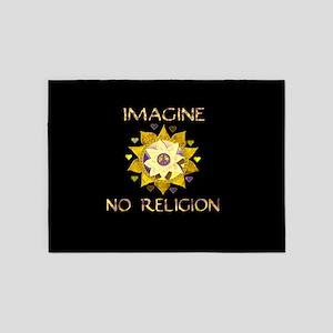 Imagine No Religion 5'x7'Area Rug
