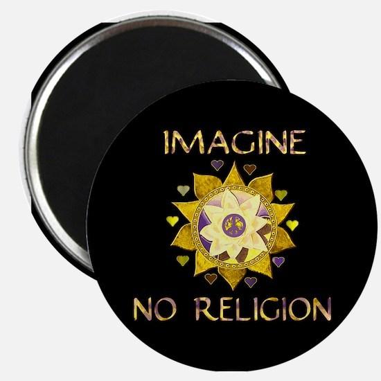 "Imagine No Religion 2.25"" Magnet (100 pack)"