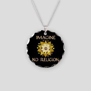 Imagine No Religion Necklace Circle Charm