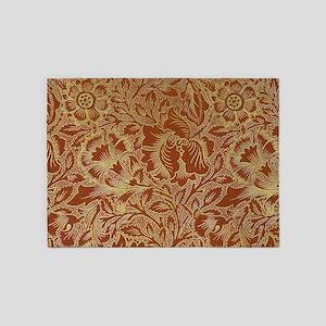 William Morris Poppy 5'x7'Area Rug