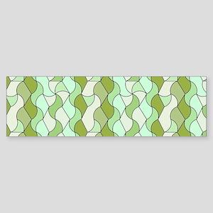 retro pattern OWEN green Bumper Sticker