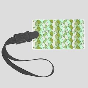 retro pattern OWEN green Luggage Tag