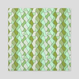 retro pattern OWEN green Queen Duvet