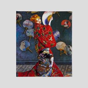 Monet: La Japonaise Throw Blanket
