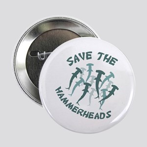 """SAVE THE HAMMERHEADS 2.25"""" Button"""