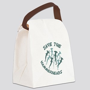 SAVE THE HAMMERHEADS Canvas Lunch Bag