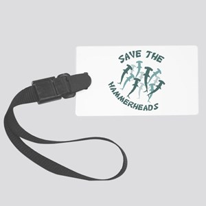 SAVE THE HAMMERHEADS Luggage Tag