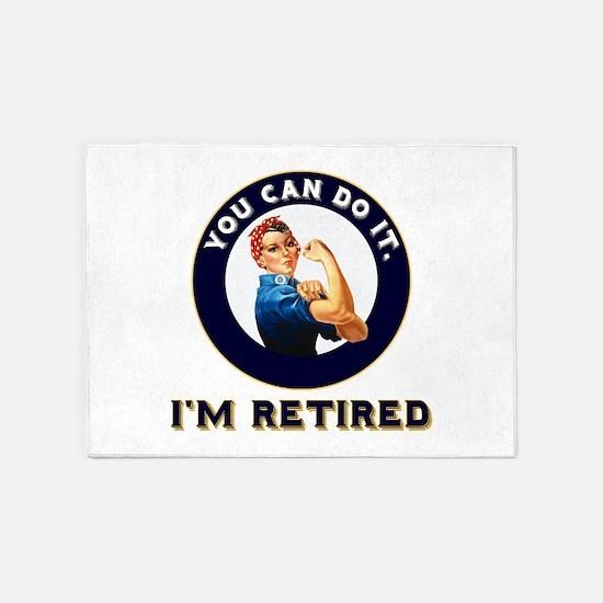 Rosie Retired Riveter 5'x7'Area Rug
