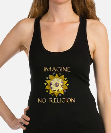 Imagine No Religion Racerback Tank Top