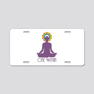 One Within Aluminum License Plate