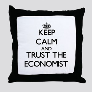 Keep Calm and Trust the Economist Throw Pillow